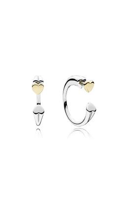 PANDORA Two Hearts Hoop Earrings 296576 product image