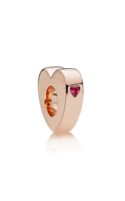 Pandora Rose™ & Red CZ Two Hearts Spacer 786559CZR product image