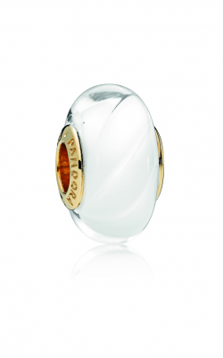 PANDORA Shine™ & Murano Glass White Waves Charm 767160 product image