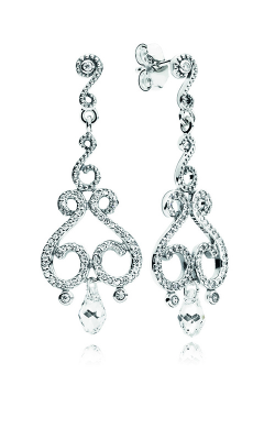 PANDORA Swirling Chandeliers Drop Earrings, Clear CZ 297088CZ product image