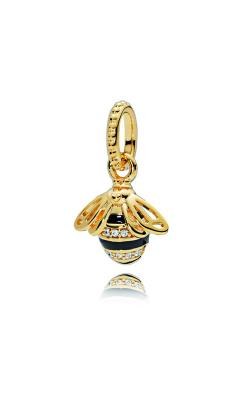PANDORA Shine™ Black Enamel & Clear CZ Queen Bee Pendant 367075EN16 product image