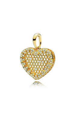 PANDORA Shine™ & Clear CZ Honeycomb Lace Pendant 367111CZ product image