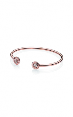 PANDORA Rose™ PANDORA Signature Open Bangle Bracelet 580528CZ-1 product image