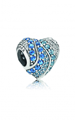 Pandora Aqua Heart Charm, Aqua & London Blue Crystals & Clear CZ 797015NABMX product image