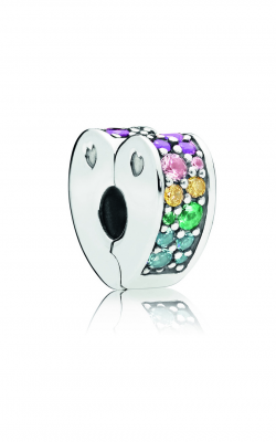 PANDORA Multi-Colored Arc Of Love Clip, Multi-Colored CZ & Crystals 797020NRPMX product image