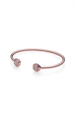 PANDORA Rose™ PANDORA Signature Open Bangle Bracelet 580528CZ-3 product image