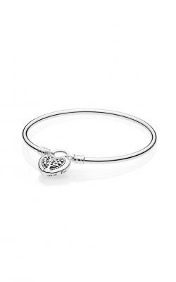 Flourishing Hearts Silver Bangle Bracelet 597101-17 product image