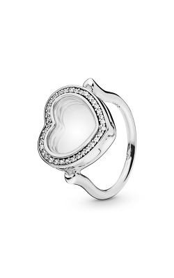 Sparkling Pandora Floating Heart Locket Ring, Clear CZ 197252CZ-44 product image
