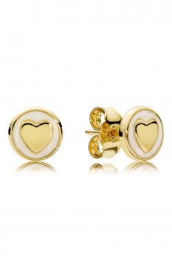 PANDORA SHINE™, Silver Enamel & Sweet Statements Stud Earrings 267275EN23 product image