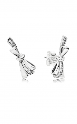 Brilliant Bows Stud Earrings, Clear CZ 297234CZ product image