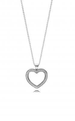 Sparkling PANDORA Floating Heart Locket, Clear CZ 397230CZ-60 product image
