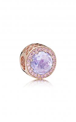 Pandora ROSE™, Lavender & Pink CZ, & Lavender  Radiant Hearts Charm 781725LCZ product image