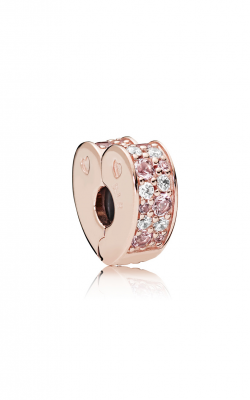 Pandora ROSE™ Light Pink & Rose Pink Crystals & Clear CZ, Arcs Of Love Clip 787020NPM product image
