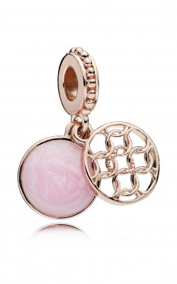 Pandora ROSE™ & Pink Enamel, Pattern Of Love Dangle Charm 787040EN153 product image