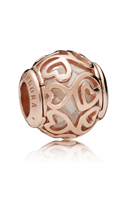 Pandora ROSE™ & Clear CZ, Hearts Filigree Charm 787348CZ product image