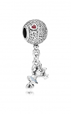 Disney, Floating Minnie Dangle Charm, Red & Clear CZ & Light Blue Enamel 797171CZ product image