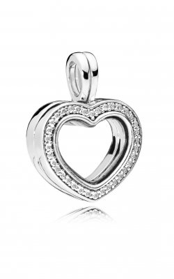 Sparkling PANDORA Floating Heart Locket, Clear CZ 797248CZ product image