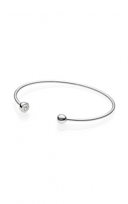 ESSENCE Silver Open Bangle, Clear CZ 597229CZ-3 product image