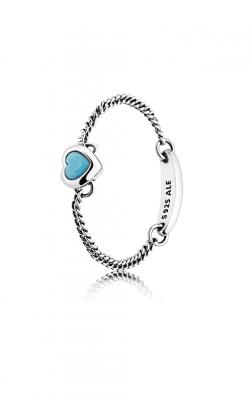 PANDORA Spirited Heart Ring, Cyan Blue Crystal 197191NYA-48 product image