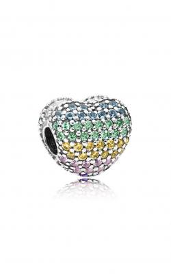 Pandora Open My Heart Pavé Clip, Multi-Color CZ 797221NRPMX product image