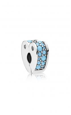 Pandora Arcs Of Love Clip, Cyan Blue Crystal 797227NYA product image