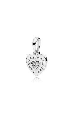Pandora Signature Heart Dangle Charm Clear CZ 397376CZ product image