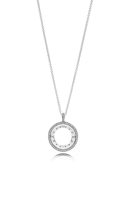 Spinning Hearts Of PANDORA Necklace Clear CZ 397410CZ-60 product image