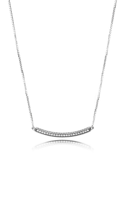 Hearts Of Pandora Bar Necklace Clear CZ 397420CZ-50 product image
