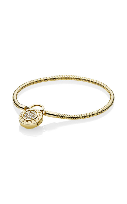 Smooth PANDORA Shine™ Bracelet, Signature Padlock Clear CZ 567757CZ-16 product image