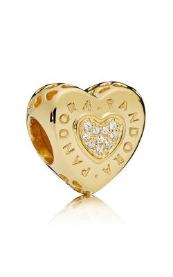 Pandora Signature Heart Charm Pandora Shine™ &Clear CZ 767375CZ product image