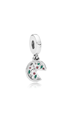 Passion for Pizza Dangle Charm Green Enamel Red Crystal & Clear CZ 797443CZ product image