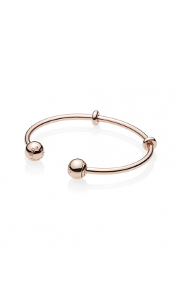 Pandora Rose™ Open Bangle, Pandora Logo Caps 586477-17.5 product image