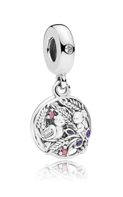 PANDORA Always By Your Side Multi-Colored CZ & Purple Enamel Dangle Charm 797671CZRMX product image