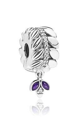 Pandora Grains Of Energy Clear CZ & Purple Enamel Clip 797591CZ product image