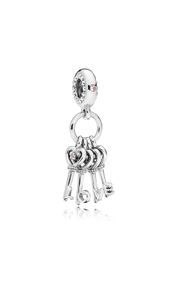 PANDORA Keys of Love Red CZ & Multi-Colored Crystals Dangle Charm 797654NPMMX product image