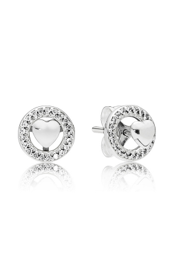 Forever PANDORA Hearts Clear CZ Earrings 297709CZ product image