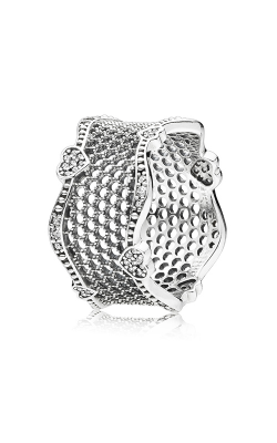 PANDORA Lace of Love Clear CZ Fashion Ring 197706CZ-50 product image