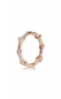 PANDORA Rose™ Alluring Hearts Clear CZ Fashion Ring 187729CZ-52 product image