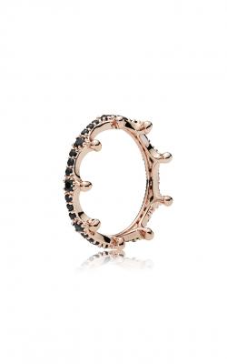 PANDORA Rose™ Enchanted Crown Black Crystal Fashion Ring 187087NCK-60 product image