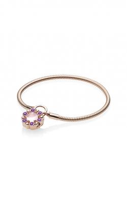 PANDORA Rose™ Padlock Heraldic Radiance Pink & Purple Crystals Bracelet 587635NPM-17 product image