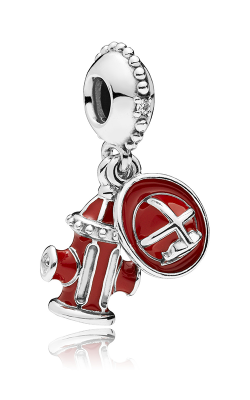 PANDORA Firefighter Essentials Clear CZ & Mixed Enamel Charm 797632ENMX product image