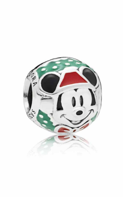 PANDORA Disney Santa Mickey Charm Red & Green Enamel 797502ENMX product image