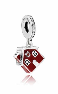 PANDORA Cosy Christmas House Dangle Charm Clear CZ & Red Enamel 797517EN27 product image