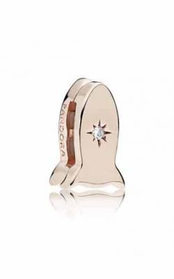 Space Rocket Clip Charm Pandora Rose™ & Clear CZ 787566CZ product image