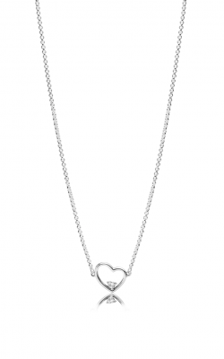 PANDORA Asymmetric Heart of Love Necklace Clear CZ 397797CZ-45 product image