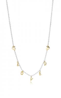 Pandora Loved Script Necklace Pandora Shine™ 367818-50 product image