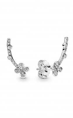 Pandora Draped Four-Petal Flower Earrings Clear CZ 297936CZ product image