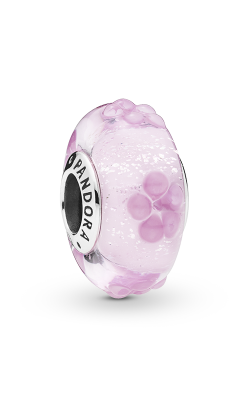 Pandora Pink Flower Glass Charm 797901 product image