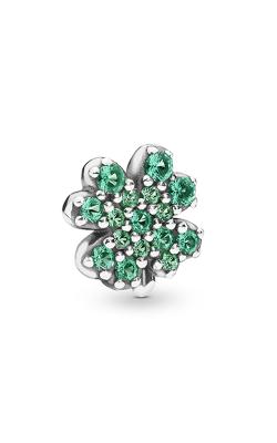 Pandora Radiant Green Clover Petite Charm Royal & Aqua Green Crystals 797867NRG product image