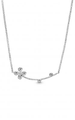 PANDORA Four-Petal Flower Necklace Clear CZ 397956CZ-50 product image
